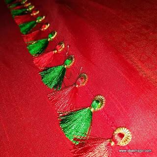 simple saree kuchu designs with beads