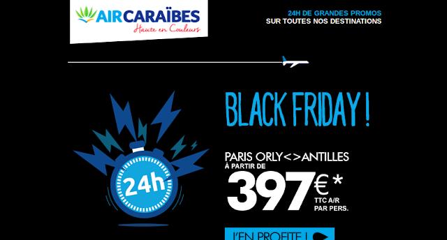 Vente Flash Air Caraibes : Black Friday