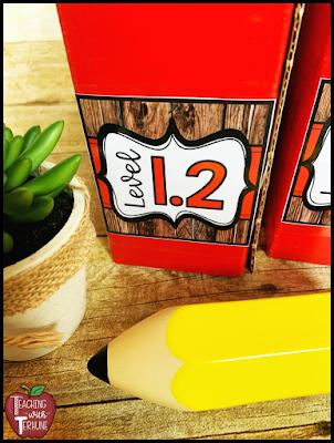 Wooden Shiplap Book Bin Labels