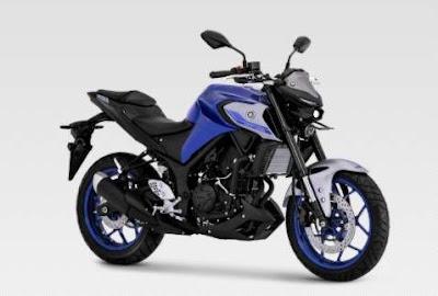 Yamaha MT25 Warna Metallic Blue tahun 2021
