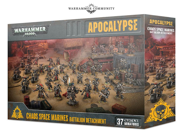 Chaos Space Marines Battalion Detachment 40k Apocalypse