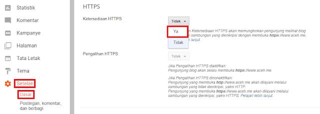Cara Aktifkan Sertifikat SSL Di Blogspot Custom Domain