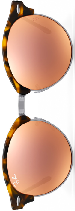 Ray Ban Clubround Copper Flash