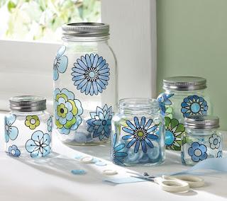 Riciclo creativo barattoli di vetro kreattivablog - Barattoli cucina colorati ...