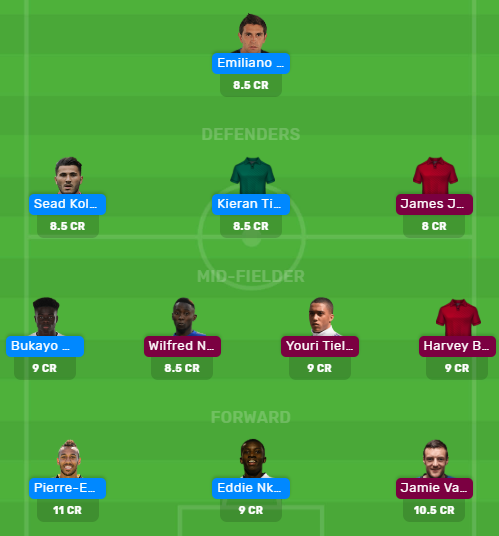 ARS vs LEI Dream11 Fantasy Predictions for Today's Match