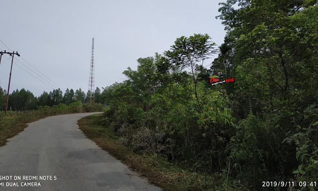 Jalan Terangun - Babahrot di sekitar Kampung Bukut