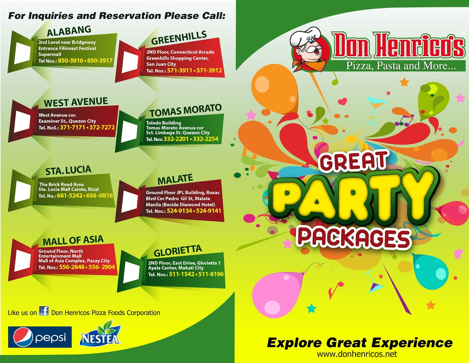 Party Food Packages Philippines