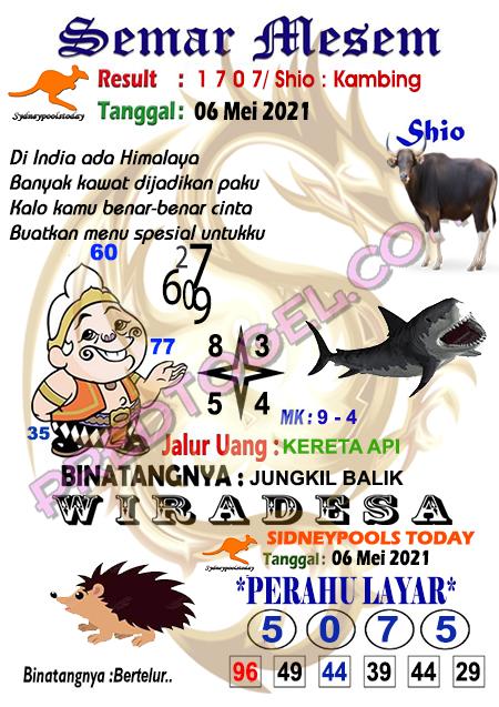 Syair Semar Mesem Sdy Kamis 06 Mei 2021