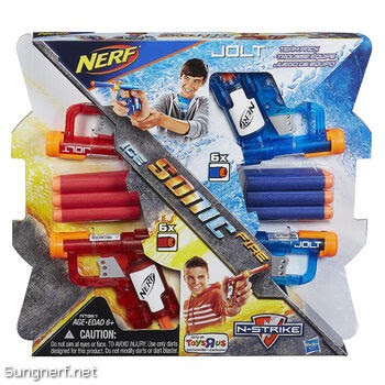 Set súng Nerf Sonic Ice - Fire Jolt Team Pack