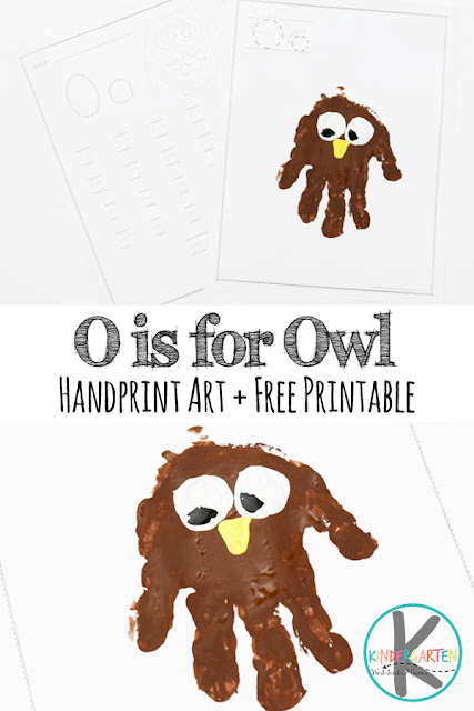 FREE Letter O Worksheets & O is for Owl Hand Art craft for kids in preschool, prek, kindergarten, and first grade #lettero #oisforowl #alphabetcrafts #lettercrafts #letteroftheweek #kindergartenworksheets #alphabetworksheets #freealphabetworksheets #kindergartenworksheetsandgames