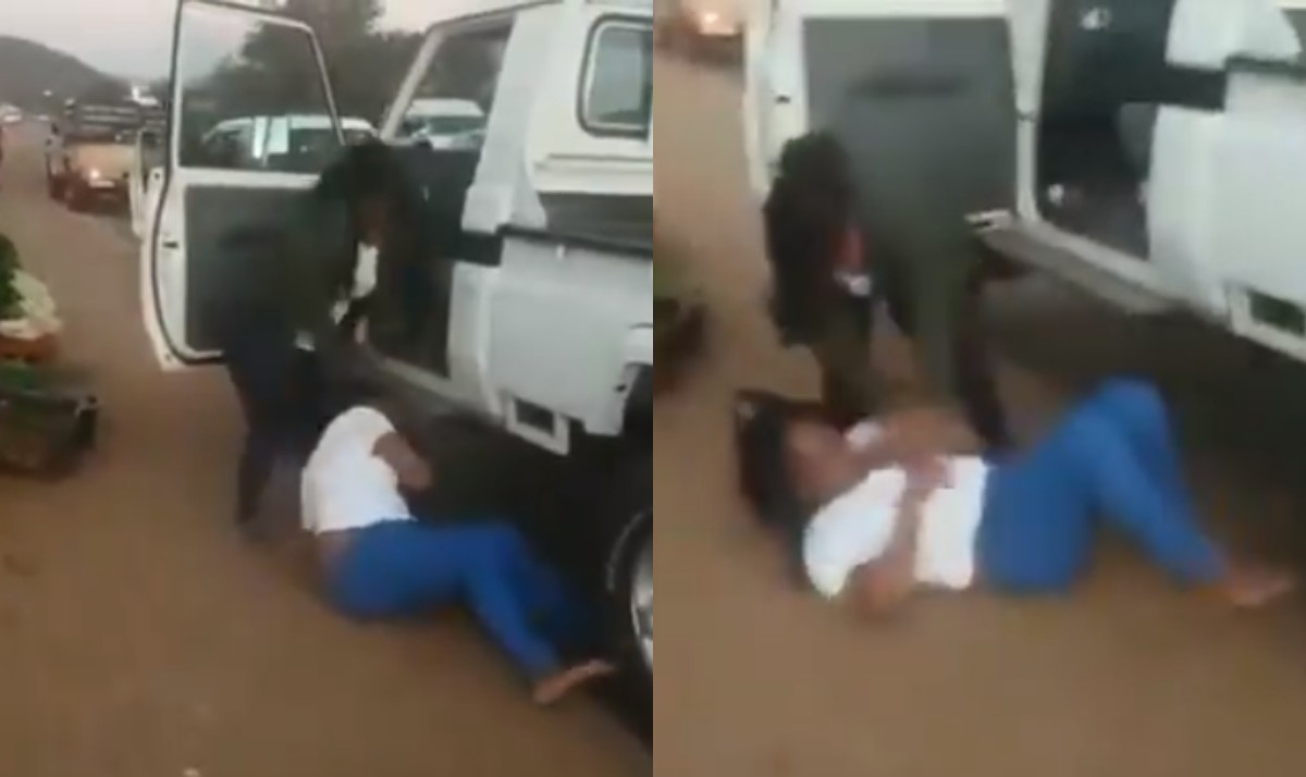 [VIDEO] Watch Moment Angry wife beat the hell out of her Husband's Girlfriend
