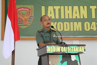Ciptakan Tertib Administrasi, Tim Wasev Sterdam II/Swj Kunjungi Kodim 0419/Tanjab