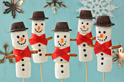Marshmallow Snowmen for Christmas