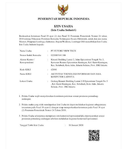 legalitas vtube, VTUBE RESMI ATAU TIDAK, ijin usaha pt future view tech vtube di Indonesia
