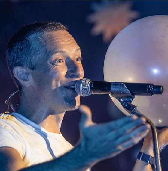 Chris Martin of Coldplay had a free concert for his fans