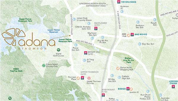 Adana at Thomson Location Map