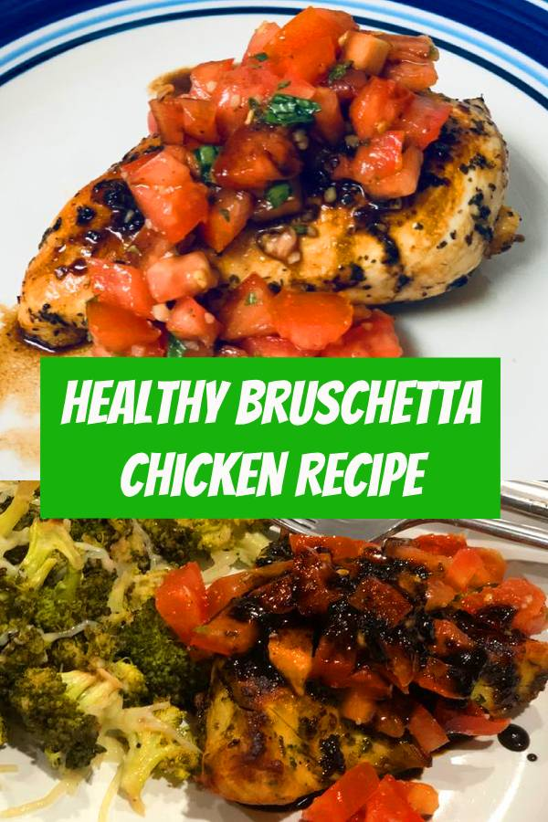 Healthy Bruschetta Chicken contains many of the flavors you love from traditional bruschetta but now you can enjoy it for dinner! This one is a family favorite for good reason! Plus it's Whole30, dairy free, and gluten free! #chickenrecipes #healthychicken #healthyrecipes #easydinner