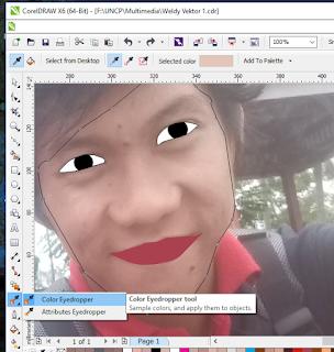 cara belajar coreldraw membuat gambar kartun wajah