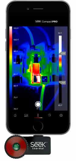 cámara térmica en smartphone