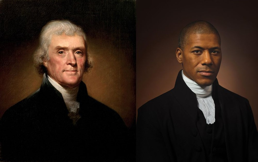 Image of Thomas Jefferson alongside Black descendant holds 'a mirror' to America #Arewapublisize