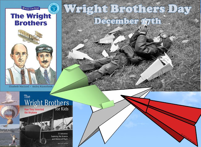 Learn about the Wright Brothers and craft a paper airplane using one of these ideas from Wolfe Stew.