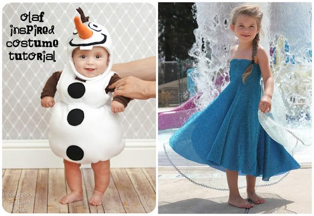 costume Olaf e Elsa di Frozen