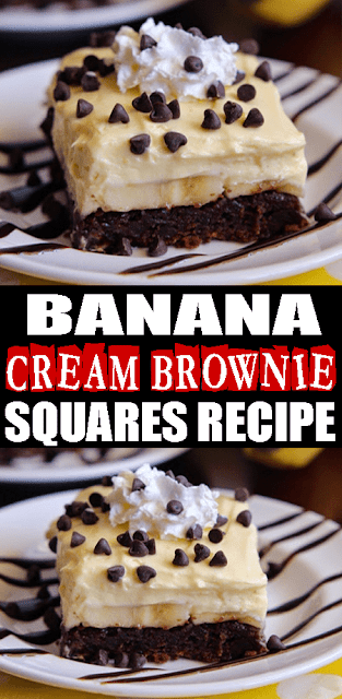 BANANA CREAM #BROWNIE SQUARES