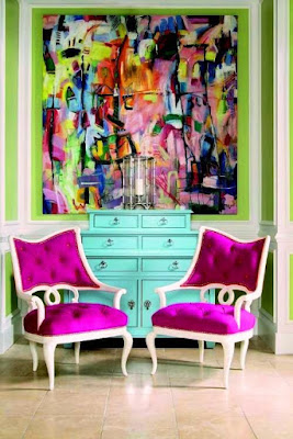 Pink and Green Complementary Theme