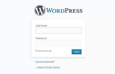 login web wordpress