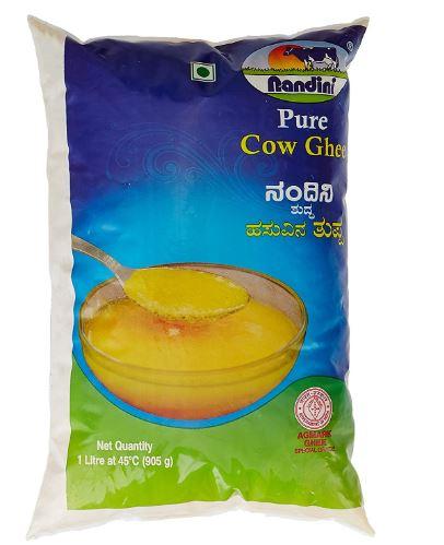 Nandini Pure Cow Ghee, 1L (Pouch)