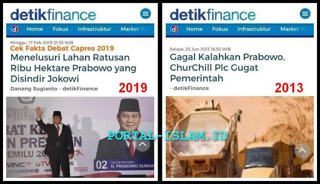 FAKTA: Lahan Yang Dipersoalkan Jokowi adalah Lahan Yang Dimenangkan Prabowo Melawan Pihak Asing Churchill Mining Plc Inggris