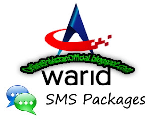 Warid Daily, 3 Days, Weekly, Monthly, sms packages
