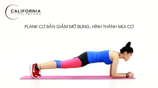 Plank đơn giản giảm mỡ bụng hình thanh múi cơ