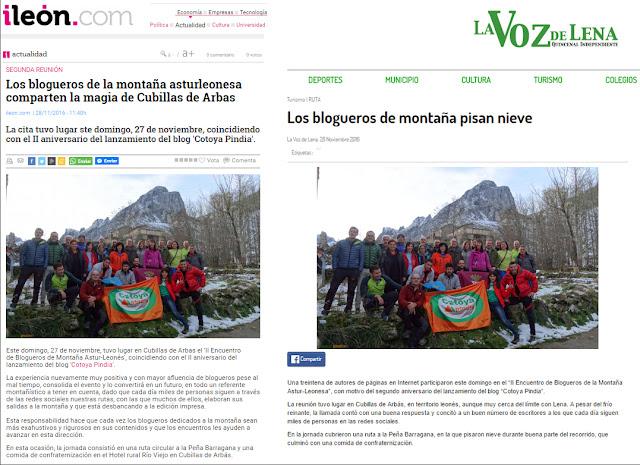Cotoya Pindia en el Diario Digital de León
