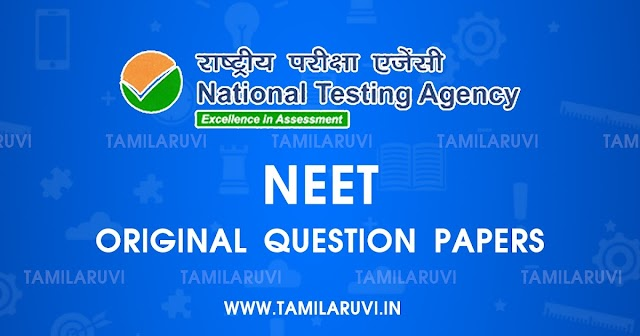 UG NEET 2021 Original Question Paper and Answer Key for All Question Paper Codes
