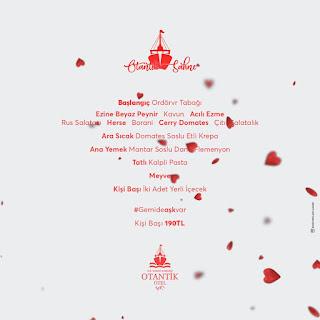 Otantik Gemi Otel Bursa Sevgililer Günü Menüsü 2020