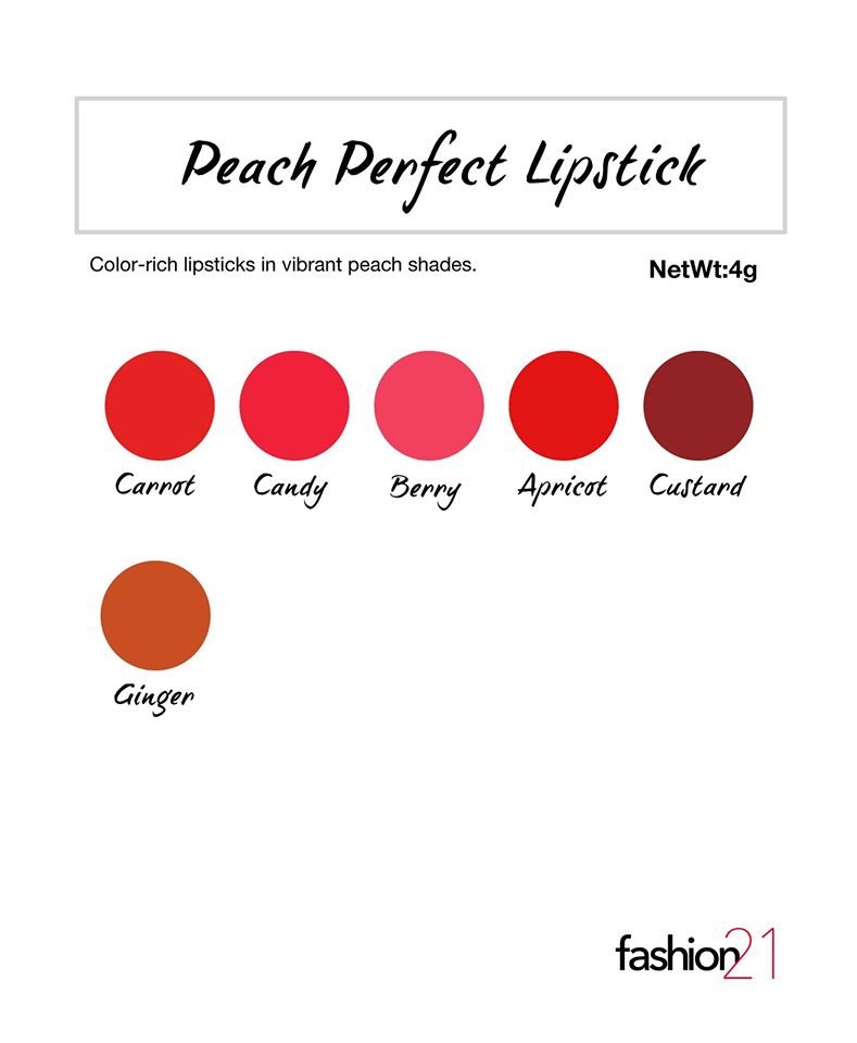 My Name is Chien: Review: Fashion21 Peach Perfect Lipstick in Apricot