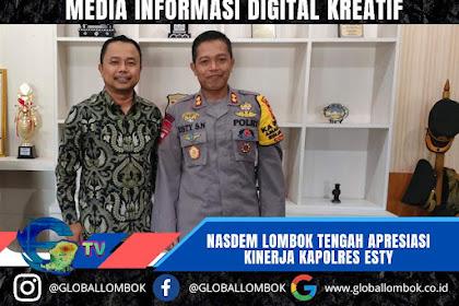 Nasdem Lombok Tengah Apresiasi Kinerja Kapolres Esty, Ini Alasannya