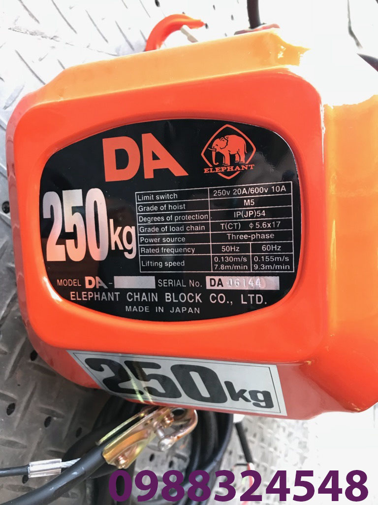 Pa lăng điện xích Elephant DA-025 250kg