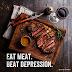 Coma carne: acabe com a depressão