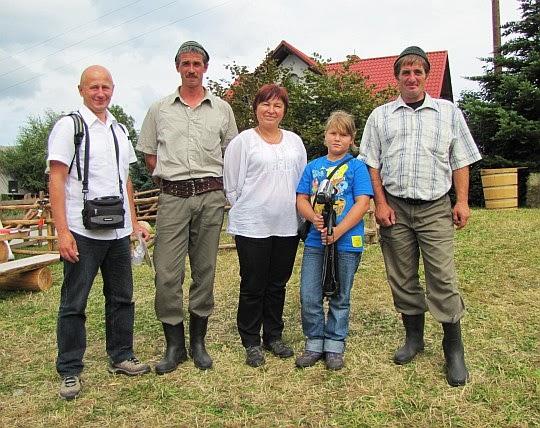 Z rumuńskimi ciobanami - Cristim i Wasilim.