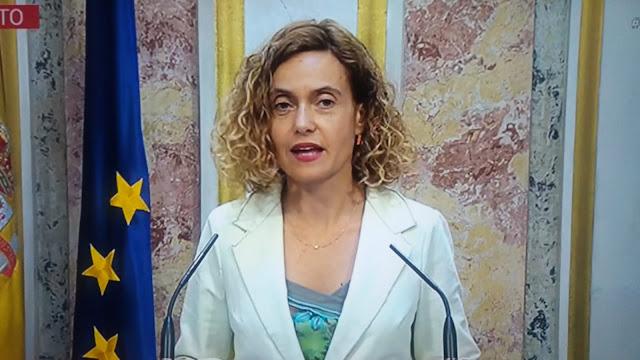 Meritxell Batet señala el pleno de investidura de Sánchez para los días 22 y 23 de julio