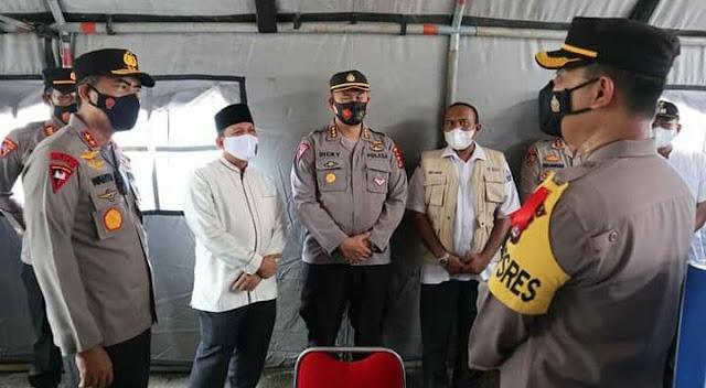 Bupati dan Wakil Bupati Pidie Jaya Tinjau Pos Operasi Ketupat 2021
