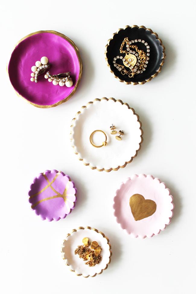 DIY - 7 Ideias de presentes para sua melhor amiga: Pratos para joias feitos com argila