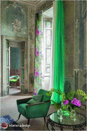 Green Color In Details Of Interior Designs 19