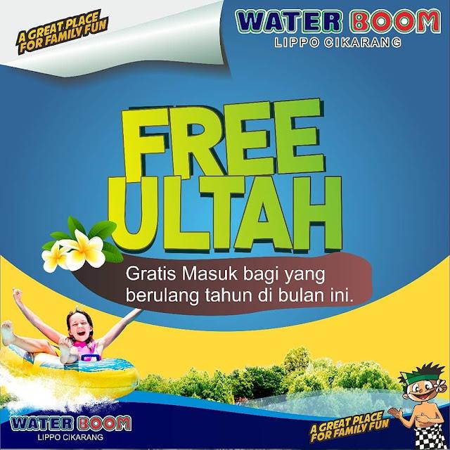 #WaterBoomLippo - #Promo Free Ultah Gratis Masuk ULTAH Juli 2019