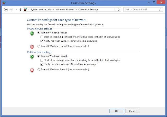 setting firewall windows 8 dan 8.1