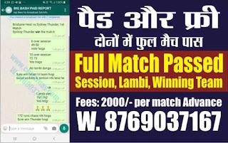 Jackpot Match in BBL T20 2019-20