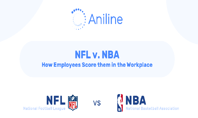NFL vs NBA - How Employees Score them in the workplace #infographic