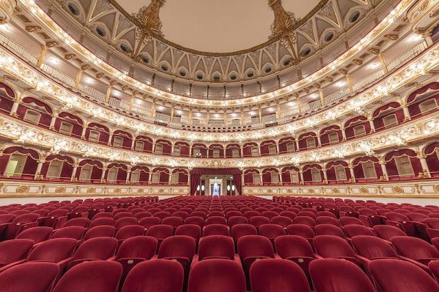 Teatro Petruzzelli Opera House in Bari, Italy